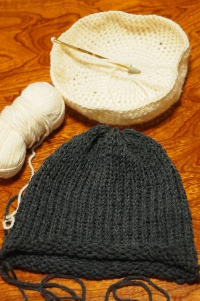 かぎ針+棒針編み 練習編み