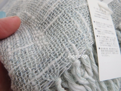 麻とボタニカルオーガニックの節糸マフラー