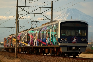富士山バックで