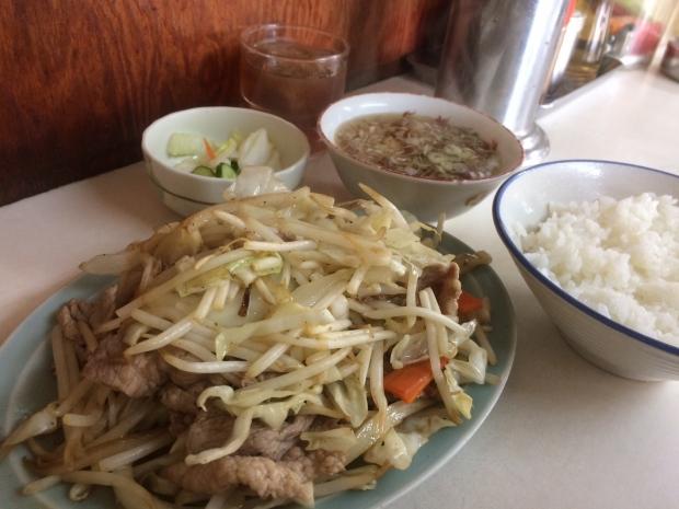 肉野菜炒め定食@万福