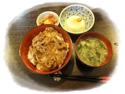 吉野家牛焼肉丼とキムチ2