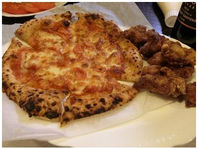 花園のピザ