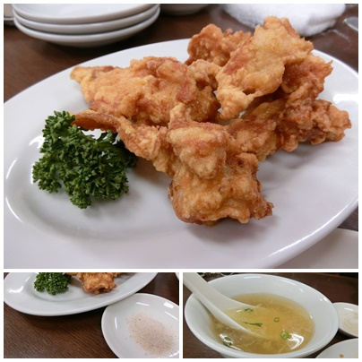 鶏からとスープ