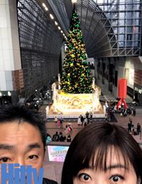 京都駅のツリーと