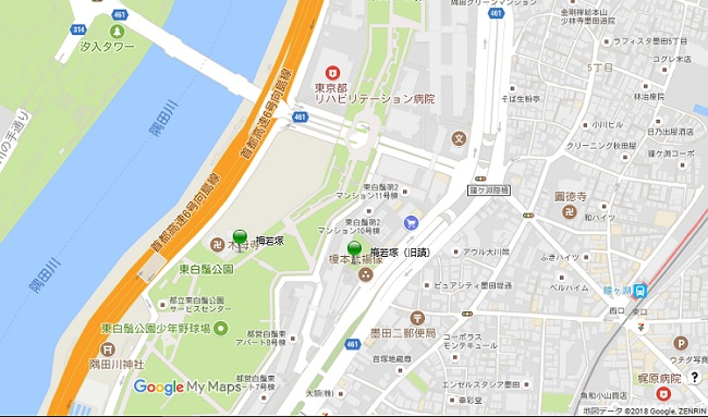 梅若塚地図