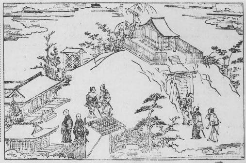 06 江戸名所記 巻三角田川(梅若堂と梅若塚)
