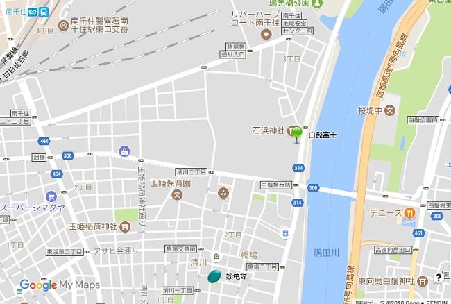 妙亀塚地図