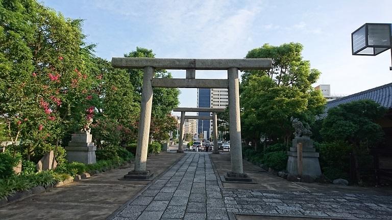 02 石浜神社鳥居