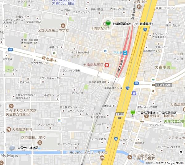 不入斗甘酒稲荷神社地図