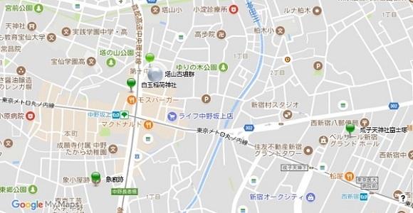 中野坂上周辺地図