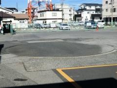 東武動物公園駅東口ターンテーブル跡