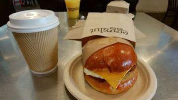 Bacon egg & Cheese sandwich