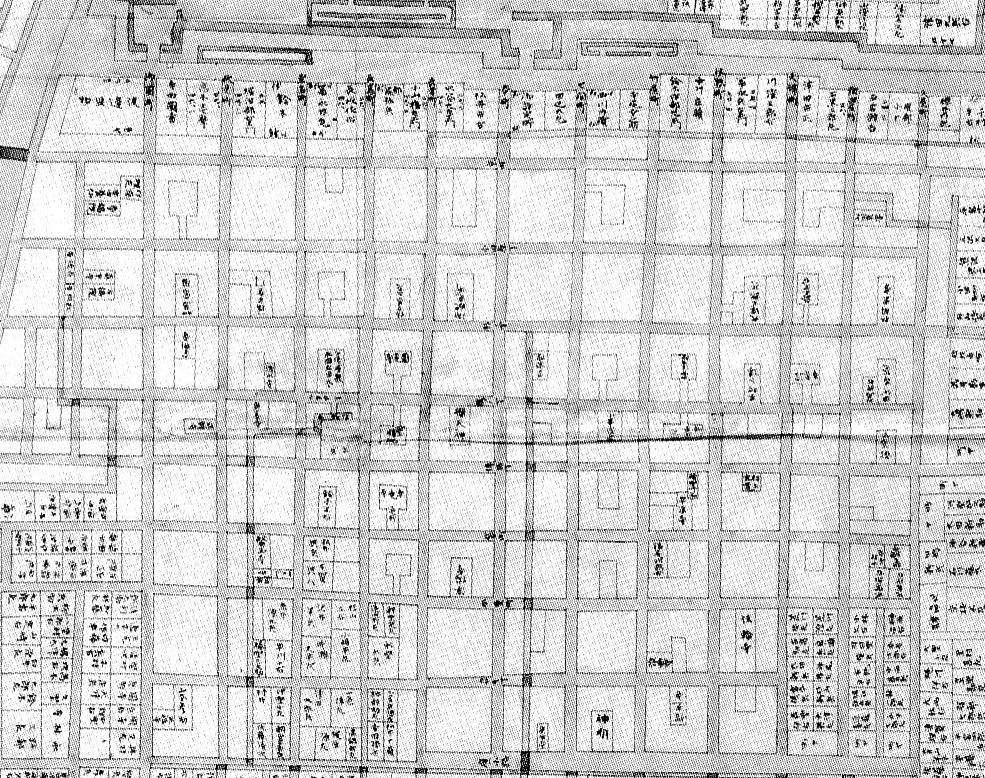 名古屋城下地図部分
