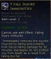 Fall Injury Immunity