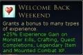 welcome back weekend