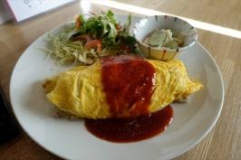 熊本市中央区大江のGOENYA食堂でハンバーグ定食ランチ♪