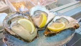 東京・築地の魚や粋(いき)で生牡蠣とチョイ飲み♪