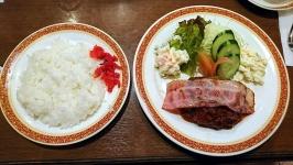 熊本市中央区水前寺のサンロワールで喫茶店ハンバーグ♪