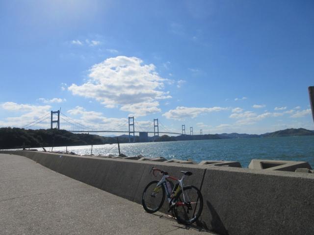 来島海峡大橋に戻ってきた