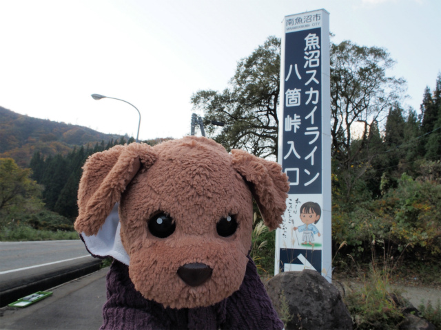 魚沼スカイライン八箇峠入口