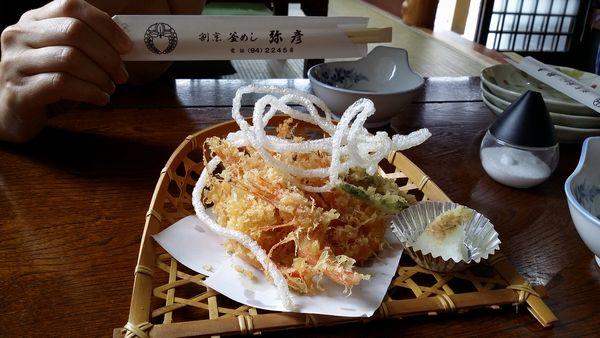 弥彦食い倒れ甘えび天ぷら