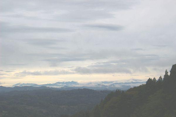 星峠から見る雲海