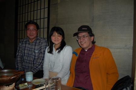 新井滋さん、田浦紀子、小林準治さん(2008年4月25日、高田馬場にて)