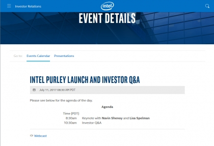 Intel Purley Launch and Investor Q&A (2017年7月9日)