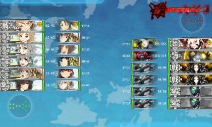 艦これ 2017年秋イベント E-3 第1段階 Boss(最終戦)