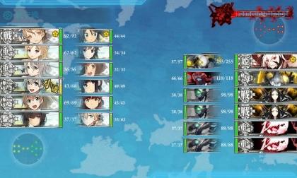艦これ 2017年秋イベント E-3 第1段階 Boss(前哨戦)