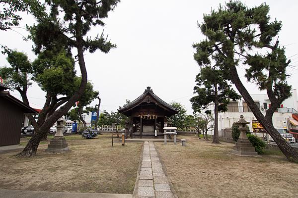 中島新町八劔社拝殿