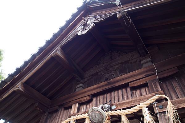 中島新町八劔社拝殿屋根