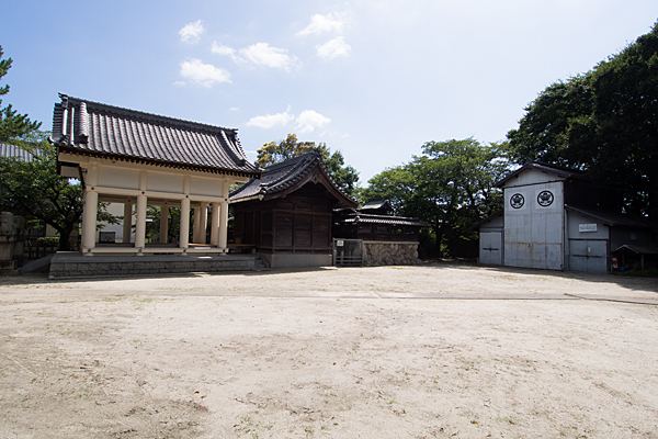 戸田八幡社境内の風景