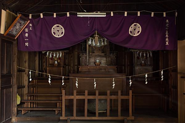 黒體龍王大神社社の中