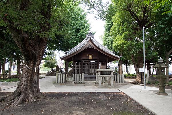 本陣通八幡社拝殿前
