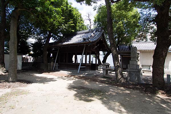 八田神明社社殿全景