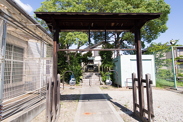 豊神社参道と境内