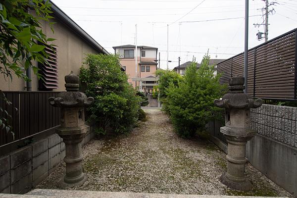 横井秋葉神社境内の風景