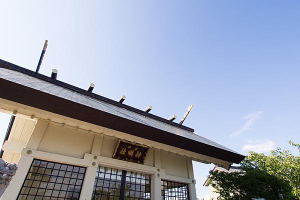 江松神明社拝殿屋根