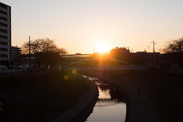 香流川と夕日