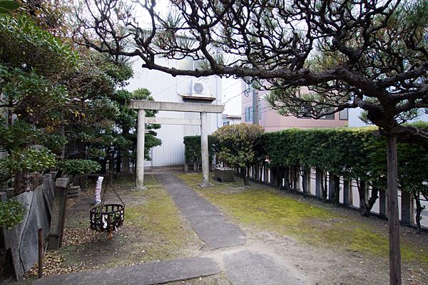 玉船町金山神社境内の風景
