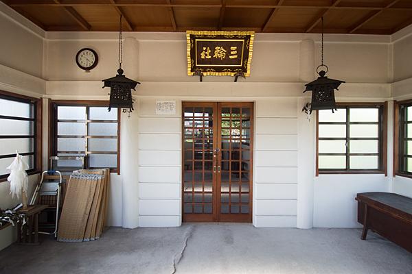 榎津三輪社拝殿内