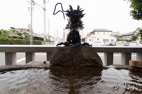 大磯神社手水舎の龍