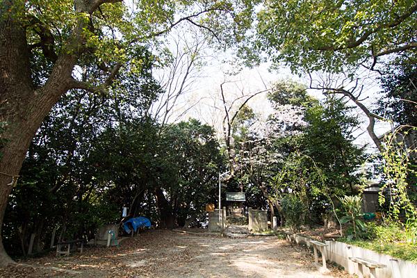 田中神明社がある広場