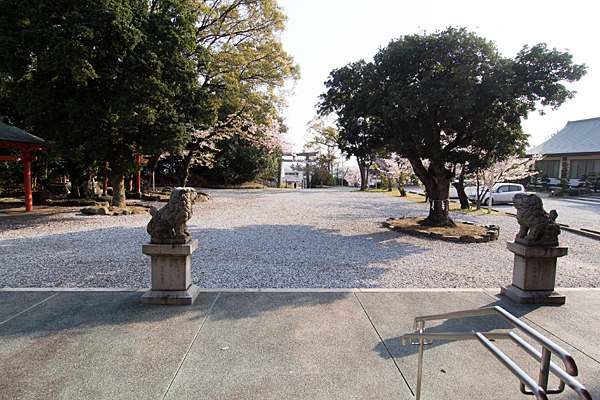 豊藤稲荷神社境内の風景