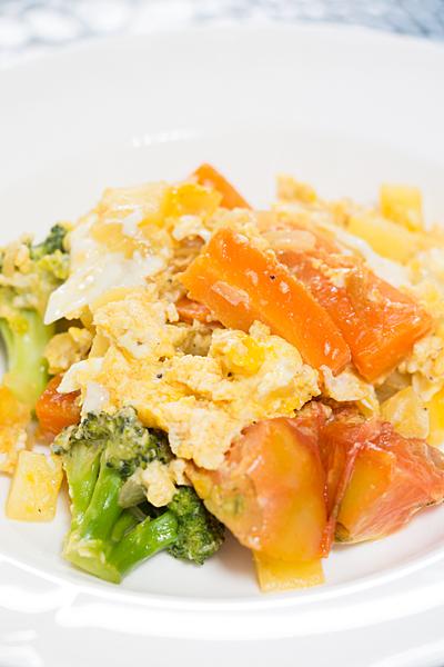 野菜の卵とじ