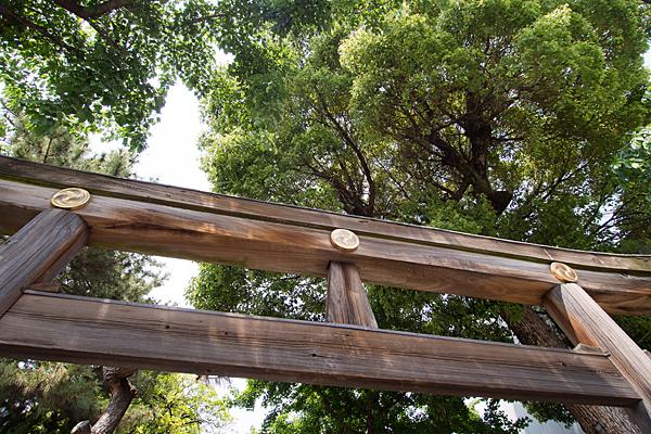 油江天神社木製鳥居