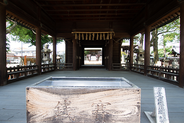 中野神明社拝殿内部