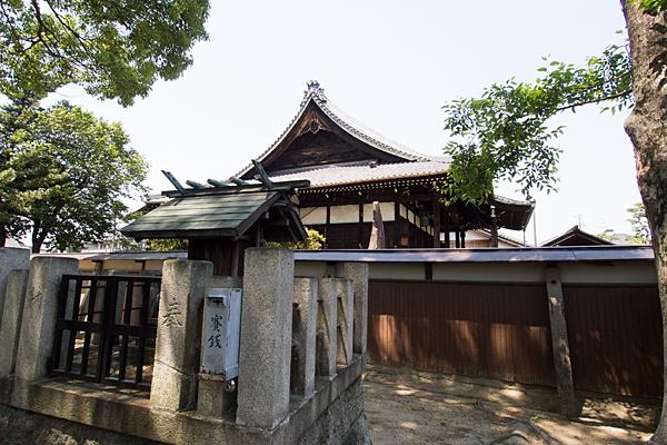 中野神明社境内社と長円寺