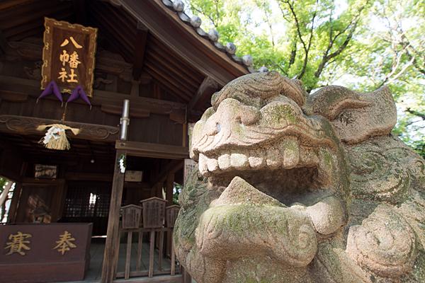 篠原八幡社狛犬